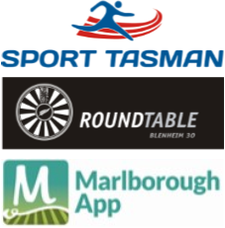 Blenheim Round Table, Sport Tasman & The Marlborough App logo