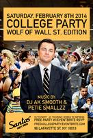 The Wolf of Wall Street College Party @ Santos Party...