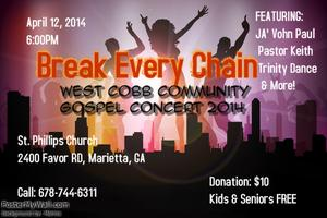 Break Every Chain GOSPEL CONCERT for The West Cobb Comm...