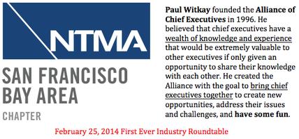 SFBA NTMA Industry Roundtable!