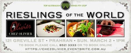 Rieslings of the World Wine Tasting Lunch
