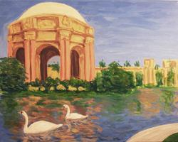 Pa'ina Paint Club - Palace Of Fine Arts With Swans