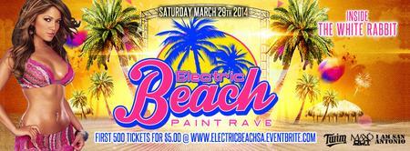 electric beach paint rave