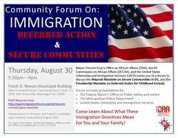 *******CANCELLED*****Community Forum on Immigration -...