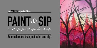 Paint & Sip | Cotton Candy Forest