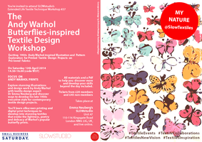 THE ANDY WARHOL BUTTERFLIES-INSPIRED TEXTILE DESIGN...