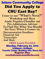 "Solano Community College ""What's Next?"" Workshop"