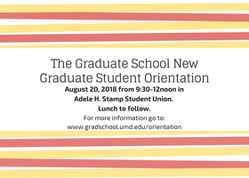 Graduate School New Student Orientation