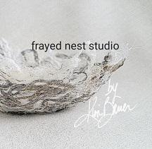 Kim Bauer of Frayed Nest Studio logo