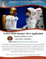 Webinar: NASA OSSI Summer 2014 Application