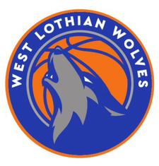 West Lothian Wolves Basketball Club logo