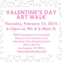V-Day Art Walk Event with Free Champagne!