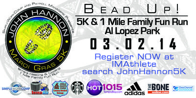 The John Hannon Mardi Gras 5K & 1 Mile Family Fun Run