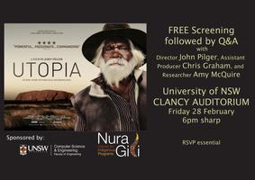 UTOPIA @ UNSW - Q&A Session with John Pilger and free...