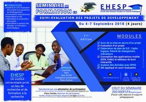 SEMINAIRE FORMATION EN SUIVI-EVALUATION DES PROJETS DE...