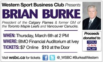 Western Sport Business Club presents Brian Burke