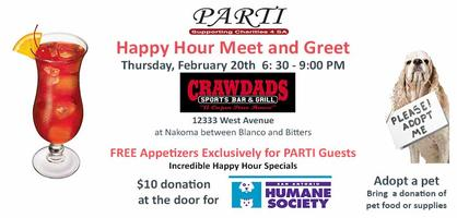 PARTI Happy Hour Meet & Greet at Crawdads - Feb. 20 -...