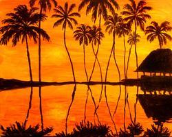 Pa'ina Paint Club - Tahitian Sunset