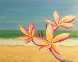Pa'ina Paint Club - Hawaiian Plumeria