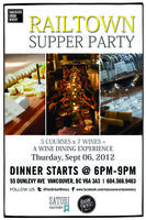 Railtown Supper Party @ Vancouver Urban Winery