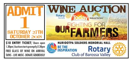 Rotary Drought Relief Wine Auction