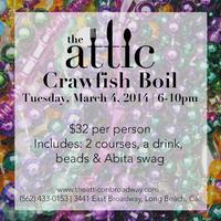 The Attic Presents: A Mardi Gras Crawfish Boil
