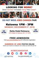 FREE: Kelowna Job Fair – October 3, 2018