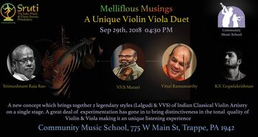 A Violin Viola Duet by Vittal Ramamurthy and V.V.S Murari