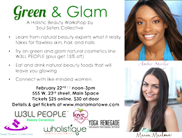 Green & Glam / A Holistic Beauty Workshop with W3LL...