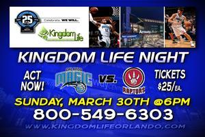 Kingdom Life Night @ The AMWAY ARENA! MAGIC vs RAPTORS!