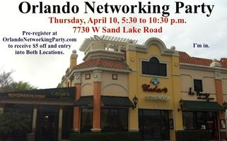 Orlando Networking Party on April 10 Hosted at Cedars...