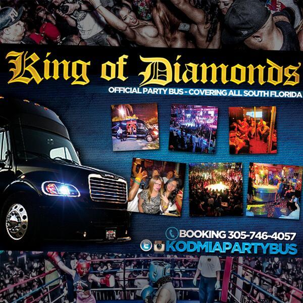 King of Diamonds Miami! (Partybus/Drinks/Admission)