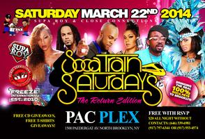 Soca Train Saturdays Monthly Event (March 22 2014