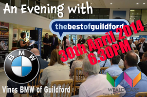 An evening with thebestofguildford at Vines BMW logo