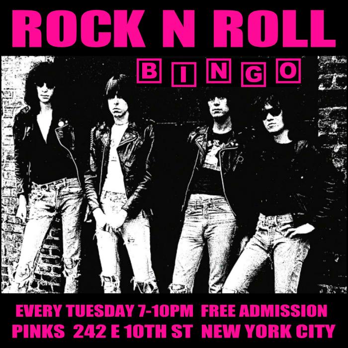 Rock N Roll Bingo - Pinks