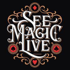 "Kostya Kimlat's ""See Magic Live"" logo"