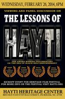 The Lessons of Hayti Documentary Viewing and Panel Disc...