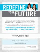 REDEFINE YOUR FUTURE:  Rodan & Fields Business...