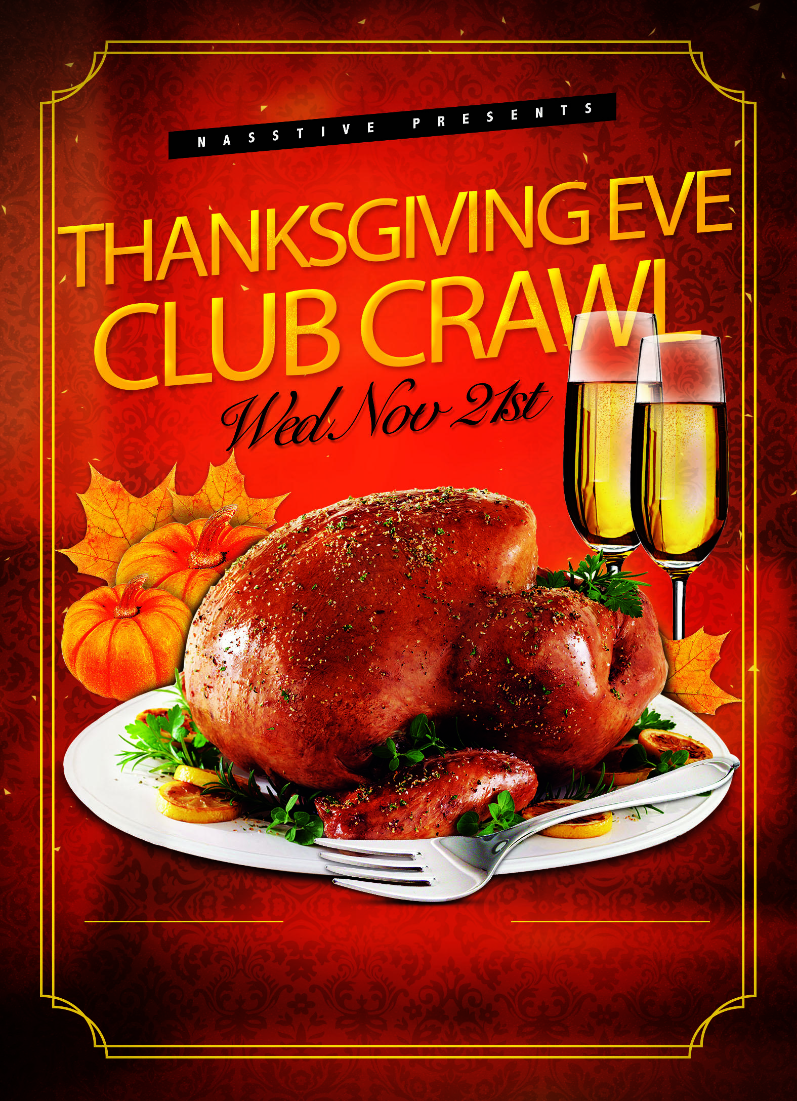 Hollywood Thanksgiving Eve Club Crawl