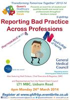 Reporting Bad Practice Across Professions