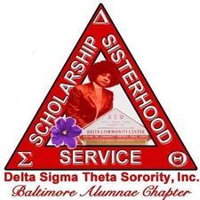 Baltimore Alumnae Chapter, Delta Sigma Theta Sorority, Inc., Arlene A. Wongus, President logo