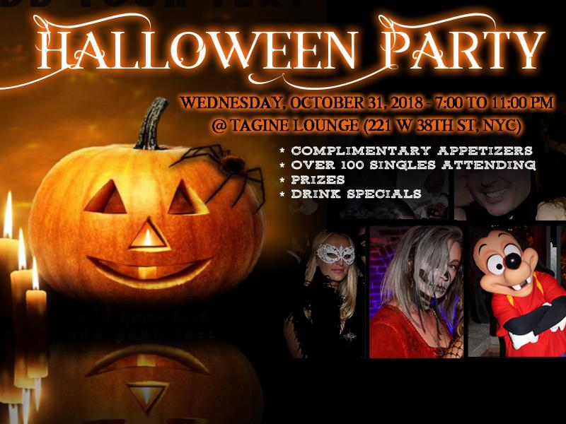 NYC Halloween Party 2018 - Prizes, Appetizers, Fun!