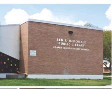 Ben F. McDonald Public Library logo