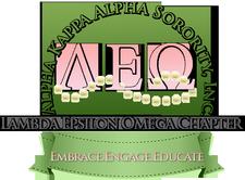 The Lambda Epsilon Omega Chapter of Alpha Kappa Alpha Sorority, Inc. logo