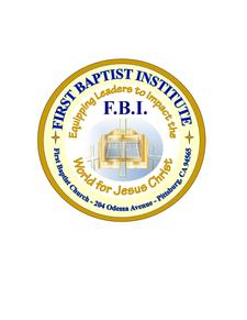 First Baptist Institute (F.B.I.) Leadership Training logo