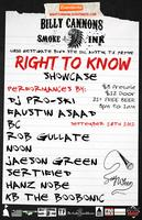 RIGHT TO KNOW SHOWCASE