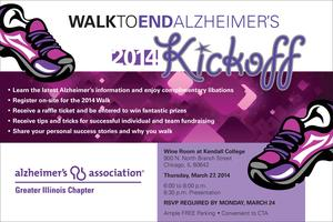 Walk to End Alzheimer's 2014 Kickoff