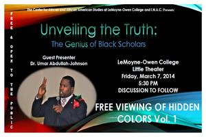 Dr. Umar Abdullah-Johnson Presentation (LeMoyne-Owen...