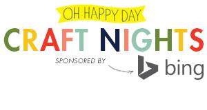 Sponsored by Bing! Oh Happy Day Craft Night // DIY...