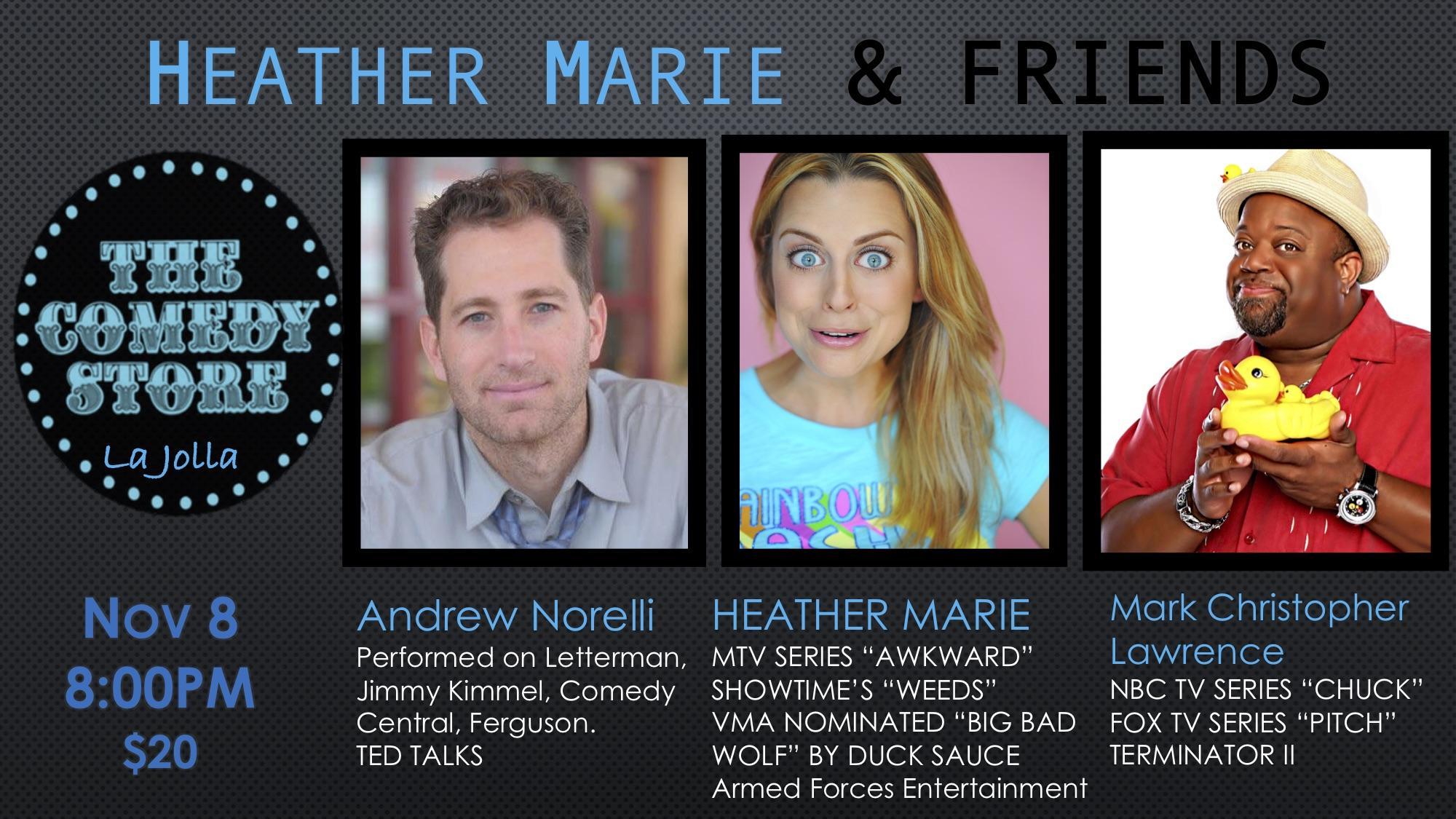 Heather Marie & Friends - Thursday - 8 pm Showtime